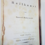 Writing of Dr.Hahnemann, The first book of Organon of Medicine